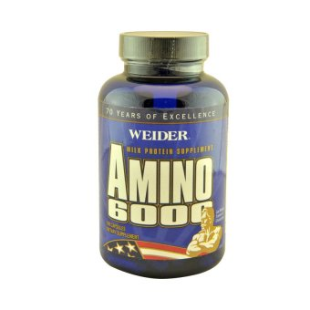 Weider Amino 6000 Muscle Builder Supplement Capsules, Bottle of 100