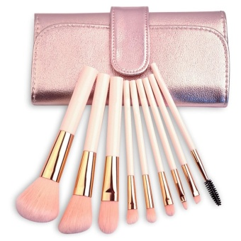 Weimei Makeup Brushes Set professional Synthetic Kabuki Cosmetic Brushes Kit with Foldable Bag -9 Pcs