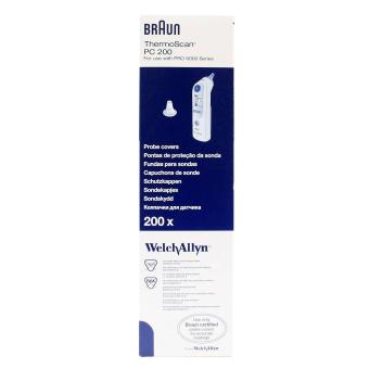 Welch Allyn 06000-005 Braun Thermoscan Pro 6000 Probe Covers - 200/Bx