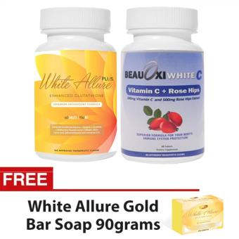 White Allure Enhanced Glutathione BeauOxi White Vitamin C ComboFREE White Allure Anti-aging Soap