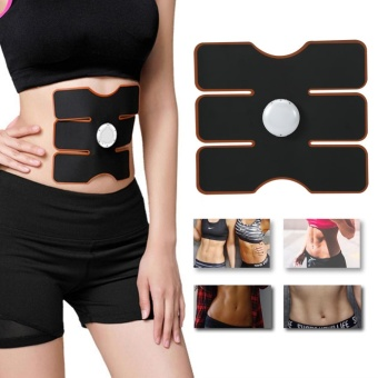 Wireless EMS Muscle Training Gear Arm Abdominal ABs Fitness Pad Body Shaper Black - intl