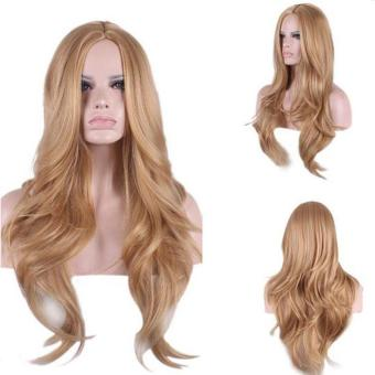 Women Long Curly Blonde Wig Party Cosplay Hair Wigs 65cm - intl