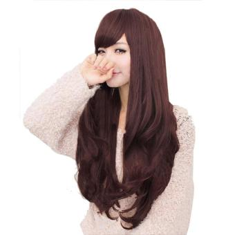 Women Long Curly Wavy Full Wigs Party Hair Cosplay Lolita Wig - intl