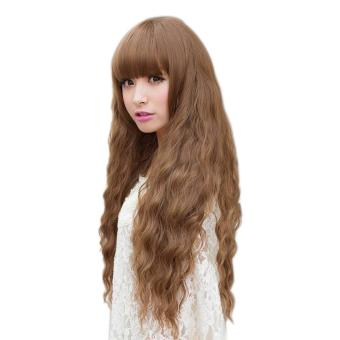Women Long Curly Wavy Hair Full Wig Cosplay Party Wig - intl