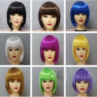 Women Short BOB Wig Fancy Dress Cosplay Party Costume