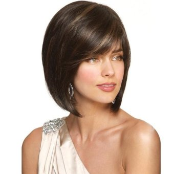 Women Short Straight Wigs Full Bob Hair Wigs - intl