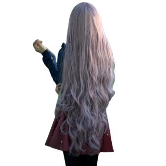 Womens Long Curly Wavy Hair Full Wigs Cosplay Anime Lolita Wig 100cm - intl