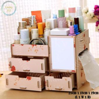 Wooden Cosmetic Make Up Jewelry Box Storage Organizer (Floral) Price Philippines
