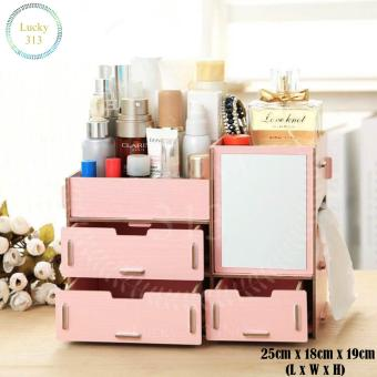 Wooden Cosmetic Make Up Jewelry Box Storage Organizer (Pink) Price Philippines
