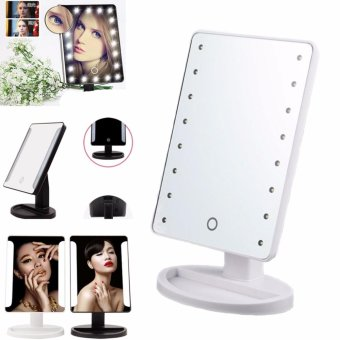 XR-1608 Make Up Vanity Illuminated Desktop Table Makeup Stand Large LED Mirror with 16 LED Light (White)