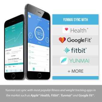Yunmai mini Smart Scale - Body Fat Scale with Fitness APP and Body Composition Monitor with Extra Large Display, WHITE - intl - 3