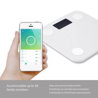 Yunmai mini Smart Scale - Body Fat Scale with Fitness APP and Body Composition Monitor with Extra Large Display, WHITE - intl - 5