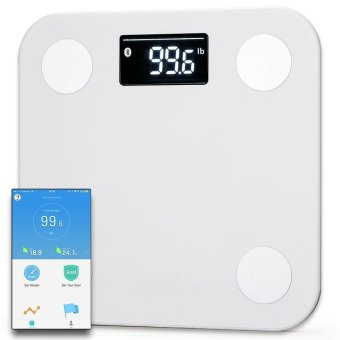 Yunmai mini Smart Scale - Body Fat Scale with Fitness APP and Body Composition Monitor with Extra Large Display, WHITE - intl