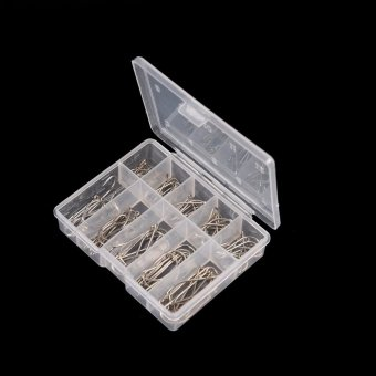 1 Box 100Pcs 3# - 12# 10 Sizes Steel Jig Hooks with Hole FishingTackle