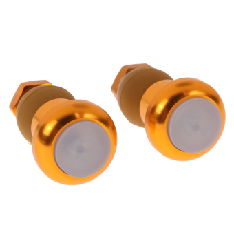 1 Pair Bicycle Bike Turn Signal Handlebar Indicator Lights(Golden) (Intl)