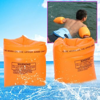 1 Pair Safty Water Pool Swimming Inflatable Arm Bands Rings Floats - intl