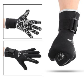 1 Pair/Set 3mm Diving Neoprene Snorkeling Water Sports Gloves L -intl