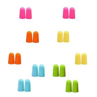 10 pieces Earplugs Soft Foam Uncorded Assorted Color