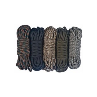 100 FT Paracord Parachute Cord Lanyard Survival Rope Outdoor 7Strand Core (RANDOM COLOR)