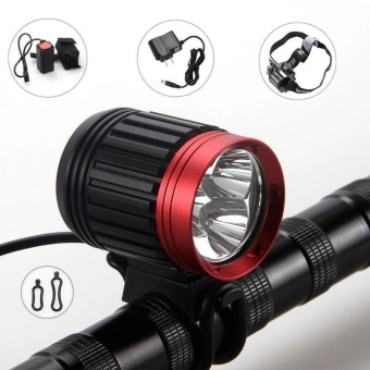 10000LM Rechargeable Bike Bicycle 3x CREE XML T6 LED Front HeadLight Headlamp - intl