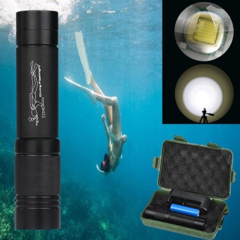 100m Waterproof XMLT6 LED Diving Scuba Flashlight Torch18650+Charger - intl