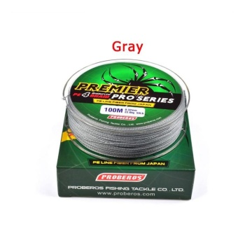 100M/110yards Super Strong PE 4stands Braided Fishing Line 20LBGrey - intl - 3