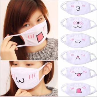 10Pcs Kawaii Anti Dust mask Kpop Cotton Mouth Mask Cute AnimeCartoon Mouth Muffle Face Mask Emotiction Masque Kpop masks - intl
