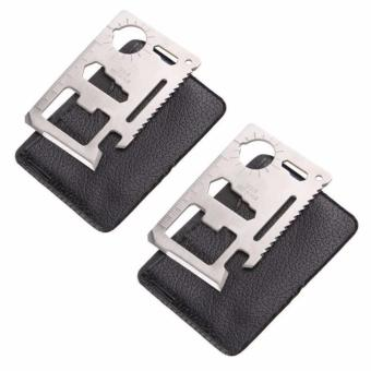 11 in 1 Multipurpose Pocket Survival Tool (Set Of 2)