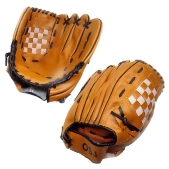 11.5 Inches Baseball Gloves Comfortable Pair of Brown PitcherGloves for Adult - intl