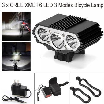 12000LM 3x XM-L T6 LED Cycling Bicycle Bike Light Headlight Head Front Lamp - intl
