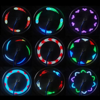 14 LED Motorcycle Cycling Bicycle Bike Wheel Signal Spoke Light Useful - 2