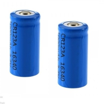 16340 3.7V Li-Ion Rechargeable Battery 2-pieces Set #0222(Blue/Red)