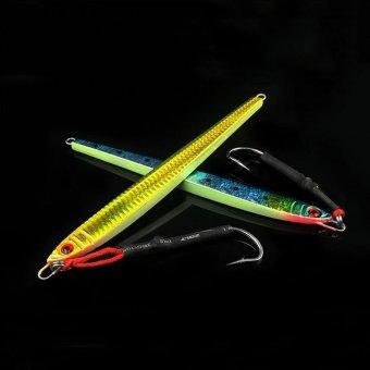 1pcs 22cm/200g Lead Fish fishing lure 200g 2 colors Jigging Metalfishing Bait sea Jig Lures Fishing Tackle(Gold) - intl - 5