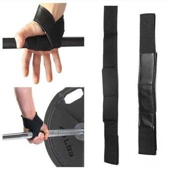 1Set 2pcs Heavy Duty Weight Lifting Straps Training Gym Straps Hand Wrist Palm Padded Bar Support Gloves Wraps Men's Body Building Workout - intl