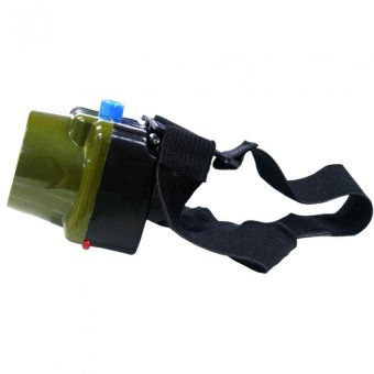 1W LED Headlight Fishing Light Outdoor Lighting LED CampingHeadlamp outdoorfree Rechargeable 2014-2 (Green) Set of 2 - 3