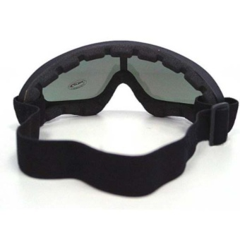 2 in 1 Protection Steel Mesh Face Mask with X400 UV Safety Goggles Airsoft Paintball, Black (Intl) - 3