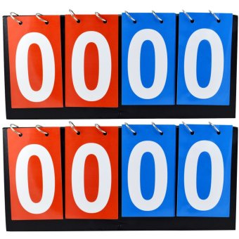 2 Pcs 4 Digit Flip a Score Multi Sports Portable Scoring Board