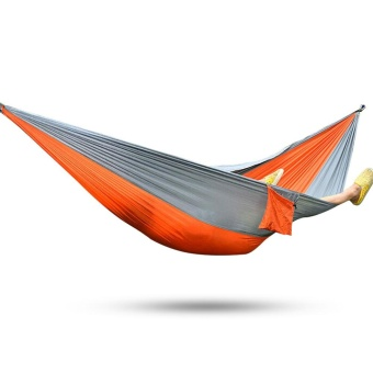 2 Person Assorted Color Portable Parachute Nylon Fabric Hammock forIndoor Outdoor Use - intl Price Philippines