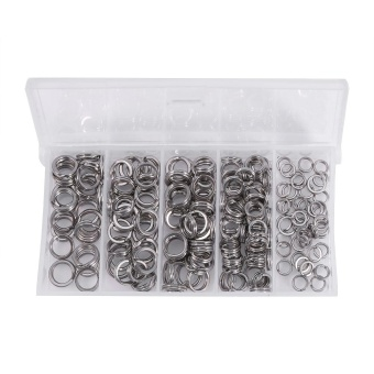 200PCS Split Rings Solid Lures Connectors Fishing Tackle - intl