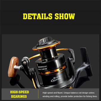 2016 Best Quality Spinning reel fishing reel YA5000 13BB 5.5:1spinning reel casting fishing reel lure tackle line(black) Price Philippines