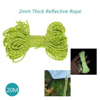 20m Reflective Rope Paracord Cord Outdoor Gear Lanyard 1 InnerStrand Core for Camping Awning - intl