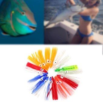 20pcs New Useful Mixed Color Squid Skirt Bait Saltwater Sea FishingLures(6cm) - intl - 3