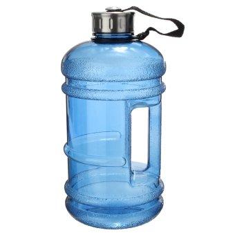 2.2 Liter (Half Gallon) 64oz BPA-Free Large Training Gym Water Bottle Handle - 2
