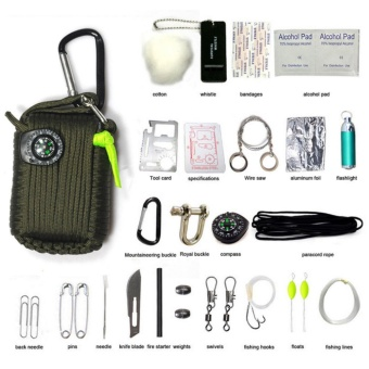 29PCS Outdoor Survival Kit First Aid Tools Camping Rescue GearEmergency Kit - intl