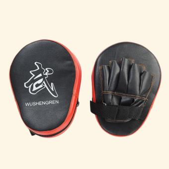 2X Boxing Mitt MMA Target Focus Punch Pad Training Glove Karate Muay Thai Kick