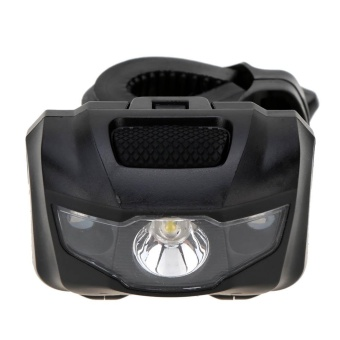 3 LED Bicycle Lights Bike Front Rear Tail Light Waterproof SafetyLamp Mini Flash LED Light for Night Cycling Flashlight,Black - intl