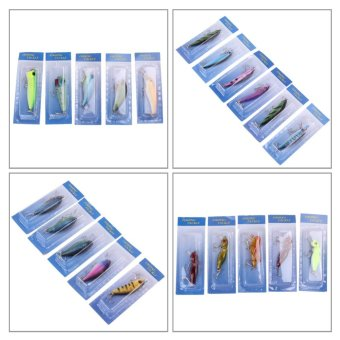 30pcs Fishing Lures Kinds of Fishing Lures Crankbaits Minnow PopperBaits - intl - 2