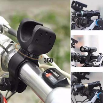 360 degrees Flashlight Bike MTB Headlight Holder Torch Flash Light Clip durable Clamp Mount Holder - 2