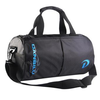 360DSC Fashion Nylon Travel Bag Shoulder Bag Cylinder Handbag GymSports Bag - Blue Letters Price Philippines