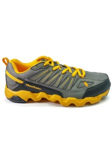 361 Degrees Masta Outdoor Comfort Trail Running Shoes (Grey/Yellow) - picture 2